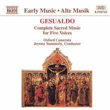 Carlo Gesualdo von Venosa (1566-1613): Sacrarum Cantionum quinque vocibus (Liber primus 1603), CD
