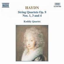 Joseph Haydn (1732-1809): Streichquartette Nr.19,21,22 (op.9 Nr.1,3,4), CD