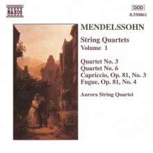 Felix Mendelssohn Bartholdy (1809-1847): Streichquartette Nr.3 & 6, CD
