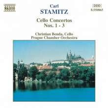 Carl Stamitz (1745-1801): Cellokonzerte Nr.1-3, CD