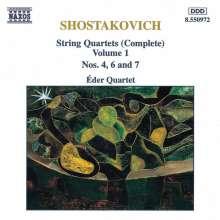 Dimitri Schostakowitsch (1906-1975): Streichquartette Nr.4,6,7, CD