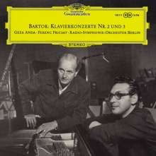 Bela Bartok (1881-1945): Klavierkonzerte Nr.2 & 3 (120g), LP