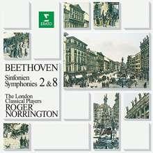 Ludwig van Beethoven (1770-1827): Symphonien Nr.2 & 8, CD