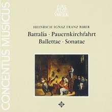 Heinrich Ignaz Biber (1644-1704): Sonaten,Balletti,Battalia,Pauernkirchfahrt, CD