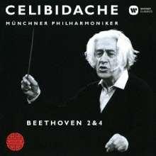Ludwig van Beethoven (1770-1827): Symphonien Nr.2 & 4 (Ultimate High Quality CD), CD