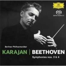 Ludwig van Beethoven (1770-1827): Symphonien Nr.3 & 4 (SHM-SACD), SACD Non-Hybrid