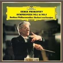 Serge Prokofieff (1891-1953): Symphonien Nr.1 & 5, CD