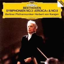 Ludwig van Beethoven (1770-1827): Symphonien Nr.3 & 8 (Ultimate High Quality CD), CD