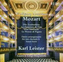 Wolfgang Amadeus Mozart (1756-1791): Opernarrangements für 2 Klarinetten & Bassetthorn, CD