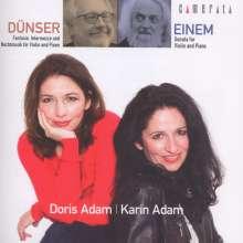 Richard Dünser (geb. 1959): Fantasie, Intermezzo und Nachtmusik für Violine & Klavier, CD