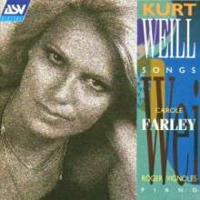 Kurt Weill (1900-1950): Songs, CD