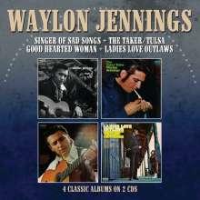Waylon Jennings: 4 Classic Albums On 2 CDs, 2 CDs