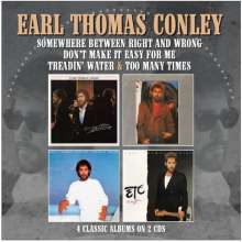 Earl Thomas Conley: Treadin' Water/Too Many Times/++(4 Albums on 2CD), 2 CDs