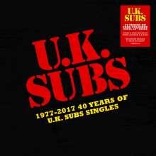 "UK Subs: 1977 - 2017: 40 Years Of UK Subs Singles (Orange + Green + Purple + Yellow Vinyl), 4 Singles 10"""