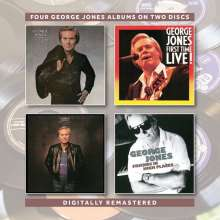 George Jones (1931-2013): Still The Same Ole Me / First Time Live! / One Woman Man / Friends In High Places, 2 CDs