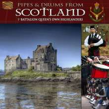 1st Battalion Queen's Own Highlanders: Pipes & Drums From Scotland, CD