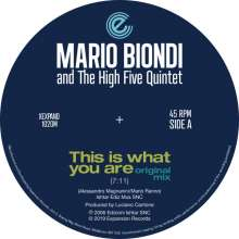 Mario Biondi (geb. 1971): This Is What You Are (Original & Opolopo Remix), Single 12""