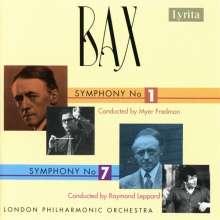 Arnold Bax (1883-1953): Symphonien Nr.1 & 7, CD