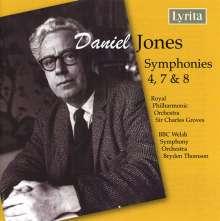 Daniel Jones (1912-1993): Symphonien Nr.4,7,8, CD