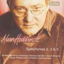 Alun Hoddinott (geb. 1929): Symphonien Nr.2,3,5, CD
