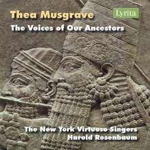 Thea Musgrave (geb. 1928): The Voices of Our Ancestors für Chor, Blechbläserquintett, Orgel, CD