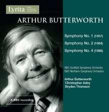 Arthur Butterworth (1923-2014): Symphonien Nr.1,2,4, CD