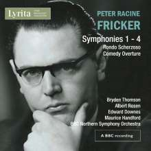 Peter Racine Fricker (1920-1990): Symphonien Nr.1-4, 2 CDs