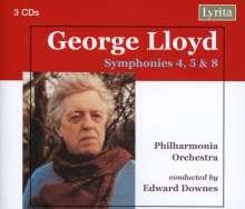 George Lloyd (1913-1998): Symphonien Nr.4,5,8, 3 CDs