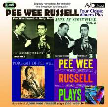 Pee Wee Russell (1906-1969): Four Classic Albums (Jazz At Storyville Vol 1 / Jazz At Storyville Vol 2 / Portrait Of Pee Wee / Pee Wee Russell Plays), 2 CDs