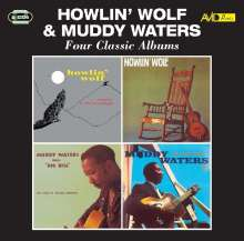Howlin Wolf & Muddy Waters: 4 Classic Albums, 2 CDs