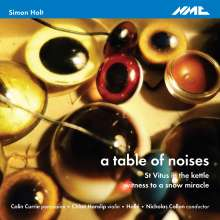 Simon Holt (geb. 1958): A Table of Noices für Percussion & Orchester, CD