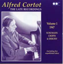 Alfred Cortot - The Late Recordings Vol.1, CD