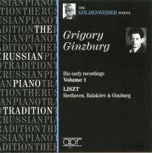 Grigory Ginzburg - His early Recordings Vol.1, CD