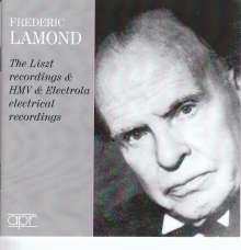 Frederic Lamond - The Liszt Recordings & HMV & Electrola Electrical Recordings, 3 CDs