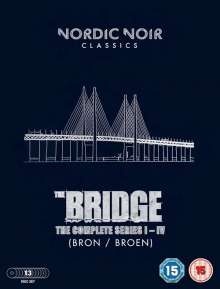 The Bridge Season 1-4 (UK Import), 13 DVDs