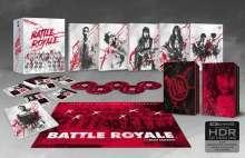 Battle Royale (2000) (Ultra HD Blu-ray & Blu-ray & Soundtrack CD) (UK Import), 2 Ultra HD Blu-rays, 2 Blu-ray Discs und 1 CD