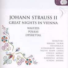 Johann Strauss II (1825-1899): Great Nights in Vienna - Walzer, Polkas & Operetten-Highlights, 2 CDs