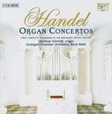 Georg Friedrich Händel (1685-1759): Orgelkonzerte Nr.1-16, 5 CDs