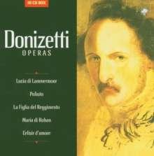 Gaetano Donizetti (1797-1848): 5 Opern (Gesamtaufnahmen), 10 CDs