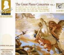 Wolfgang Amadeus Mozart (1756-1791): 250 Years Mozart Masterworks - The Great Piano Concertos I, 3 CDs