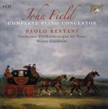John Field (1782-1837): Klavierkonzerte Nr.1-7, 4 CDs