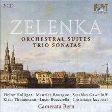 Jan Dismas Zelenka (1679-1745): Orchesterwerke (Ges.-Aufn.), 5 CDs