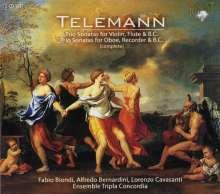 Georg Philipp Telemann (1681-1767): 6 Triosonaten für Flöte,Violine & Bc, 2 CDs
