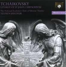 Peter Iljitsch Tschaikowsky (1840-1893): Die Liturgie des Hl.J.Chrysostomus op.41, CD