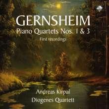 Friedrich Gernsheim (1839-1916): Klavierquartette Nr.1 & 3, CD