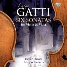 Luigi Gatti (1740-1817): Sonaten f.Violine & Viola Nr.1-6, 2 CDs