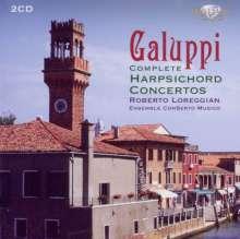 Baldassare Galuppi (1706-1785): Sämtliche Cembalokonzerte, 2 CDs