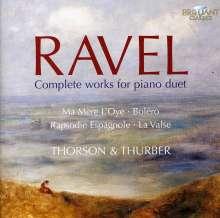 Maurice Ravel (1875-1937): Werke für 2 Klaviere & Klavier 4-händig, 2 CDs