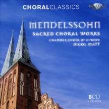 Felix Mendelssohn Bartholdy (1809-1847): Geistliche Chorwerke, 8 CDs