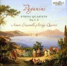 Niccolo Paganini (1782-1840): Streichquartette Nr.1-3, CD